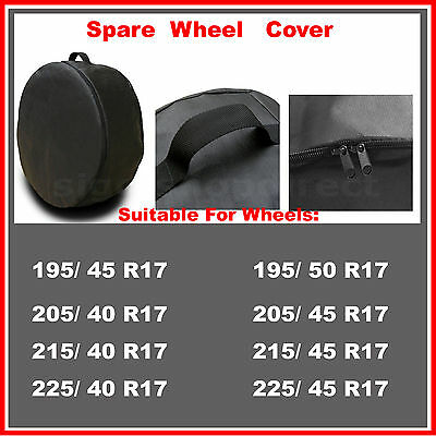 4 x R17 Spare Wheel Cover Tyre Tire Storage Bag Car Van Caravan Motorhome BV53