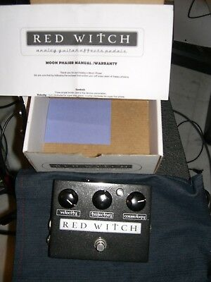 Red Witch Moon Phaser Guitar Effect Pedal - Custom Color