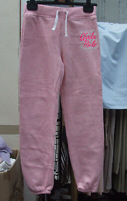 YD 11-12 year Girls Pink Track Suit Bottoms Sports Girl Trousers