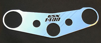 Suzuki Gsx 1400 2001 - 2004 Mirror Polished Stainless Steel Logo Top Yoke Cover