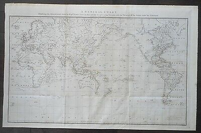 Rare Captain Cook World Map London 1784