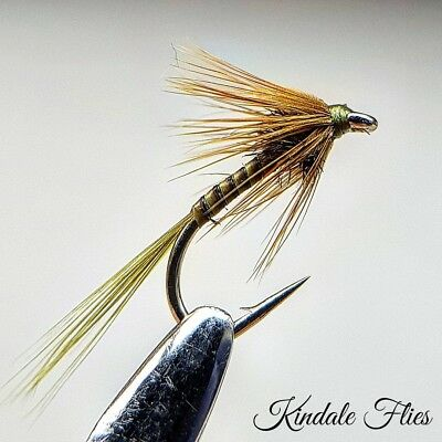 Olive Quill Cruncher size 10 (Set of 3) Fly Fishing Flies Trout buzzers