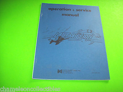 LAST MISSION By DATA EAST 1986 ORIGINAL VIDEO ARCADE GAME SERVICE REPAIR MANUAL