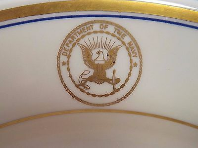 """Department Of The Navy Vintage Homer Laughlin 10"""" Dinner Plates Lot of 3"""