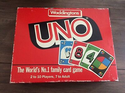 Uno - Waddingtons Games Ltd 1989 - Vintage Family Card Game