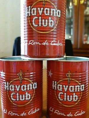 3 x HAVANA CLUB RUM - CUBA LIBRE COCKTAIL CANS - Drinking Glasses
