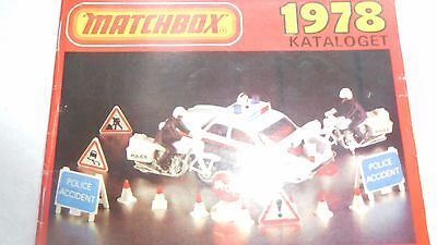 Matchbox Car, Trucks,toys,playset Kataloget 1978 Brochure,catalog,program Rare!!