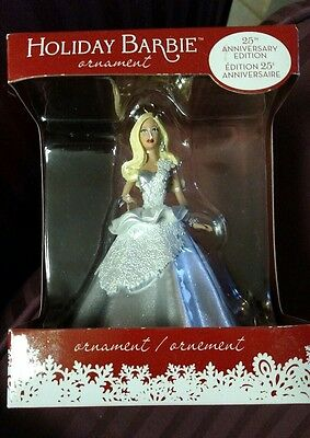 Holiday Barbie Christmas Ornament 25th Anniversary Edition 2013