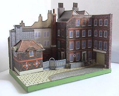Doctor Johnson's House Paper Card Cut Out Model By The Producers Of Micromodels