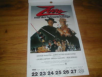 52 German MOVIE POSTERS from 1983, LARGE Calendar Format...rare