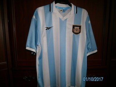 Vintage Argentina Home Football Shirt Reebok Very Rare