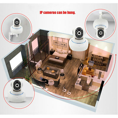 HD 720P IP Camera Wifi Indoor Lens 3.6mm 1.0MP Network Night Vision White
