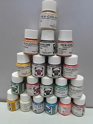 Ferrario Tex Color Acrylic Fabric Paints 50ml Made in Italy