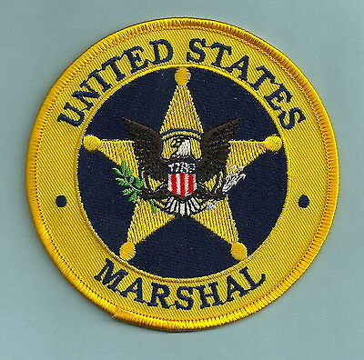 """United States Marshal Police 4"""" Shoulder Patch Yellow"""