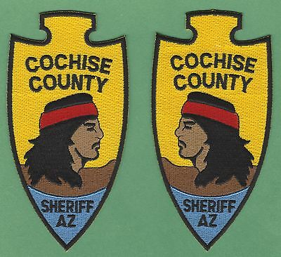 Cochise County Sheriff Arizona Police Patches Opposing Face Left & Right