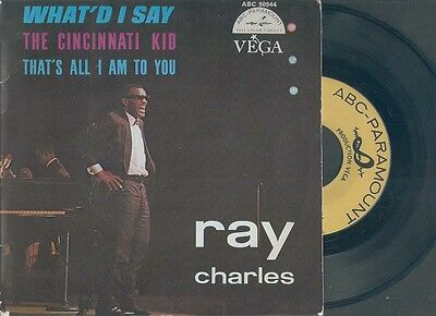 RAY CHARLES,What'd I say,The Cincinnati kid.FRENCH EP.Rhythm and Blues