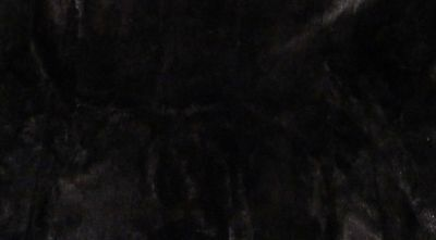 """Large piece of sheared black opossum - 40"""" x 18"""" for sewing or craft project"""