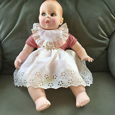 "Gerber Vintage Baby Doll 1979 Moving Eyes 17"" VGC"