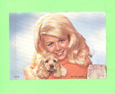 Vintage Calendar Image Woman Beauty With Nice Dog