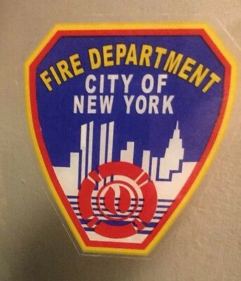 """NY State NY FIRE DEPARTMENT """"Real"""" InWindshield Decal  **Others Available"""