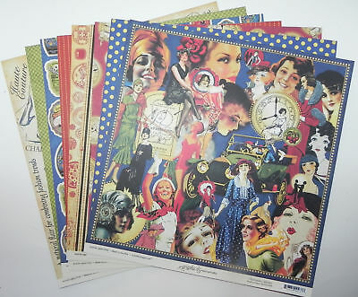 Lot Graphic 45 Fashionista Double Sided Designer Paper 12 X 12  9 Sheets