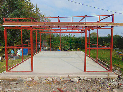 Steel Frame For Garage/workshop/ Storage Built In 50X50X2.5Mm Box Section