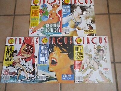 Circus, Magazine BD: Lot 7 de 5 n°.