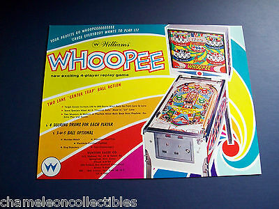 WHOOPEE By WILLIAMS 1964 ORIG NOS PINBALL MACHINE SALES FLYER BROCHURE
