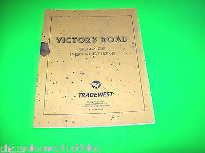 VICTORY ROAD By TRADEWEST 1986 ORIGINAL VIDEO ARCADE GAME SERVICE MANUAL +