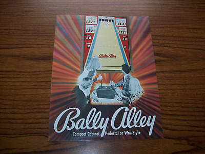 BALLY ALLEY + BALLY LANE By BALLY 1974 ORIGINAL BOWLING ARCADE FLYER BROCHURE