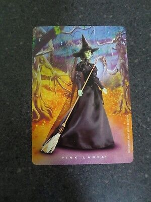 Wizard Of Oz Barbie Wicked Witch of the West Pink Label NEW COA Vintage NRFB