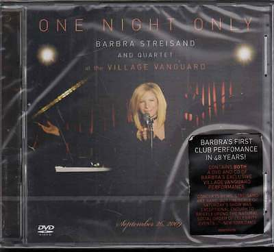 Barbra Streisand ‎CD DVD One Night Only: Barbra Streisand And Quartet Live Sig