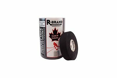 R-Brand 174809 Black Hockey Stick Tape 6-Pack 24-Millimeter x 25-Meter New