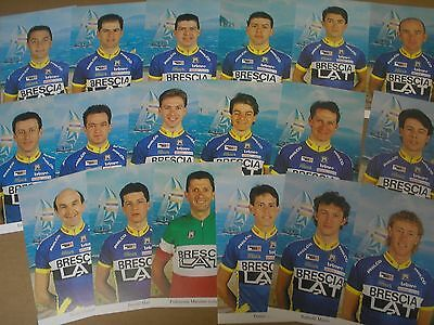 18 photos DIFFERENTE cyclisme ciclismo cycling EQUIPE BRESCIA BRESCIALAT 1995