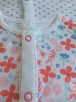 New baby girl sleepsuits, 18-24 months