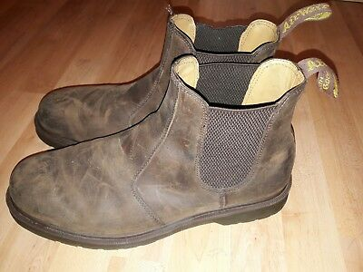 ffbf3aefd5d DR MARTENS 8250 Gaucho Leather Brown Chelsea Boots
