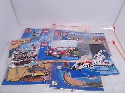 13 LEGO CITY TOWN PIRATES INSTRUCTION MANUALS LOT directions cars trucks Plane