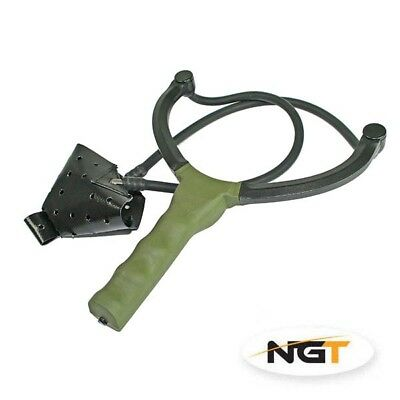 New Ngt Quality Made Carp Fishing Catapult For Bait Boilies Pellets Feed Green