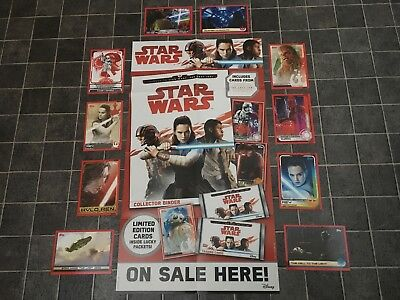 From 16p Each Topps Star Wars THE LAST JEDI, No. 1 - 160 - Regular Story Cards