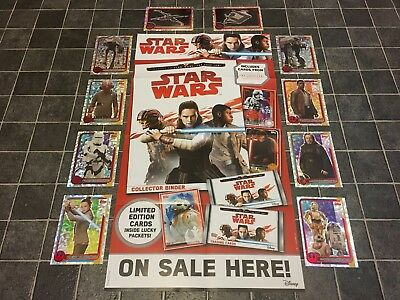 From 30p Each, Star Wars - THE LAST JEDI Foil Trading Cards