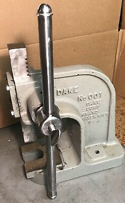 Dake 001 Arbor Press American Made