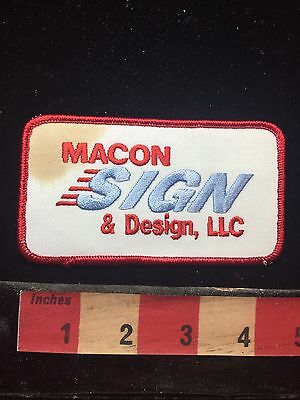 Vtg As-Is (Stained) MACON SIGN & DESIGN LLC Georgia Patch 74WV