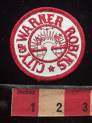 Vtg Georgia Patch CITY OF WARNER ROBINS (Home Of Air Force Base) 74WV