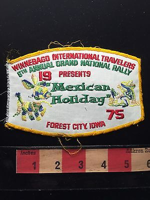 Vtg 1975 (AS-IS ROUGH) WIT Forest City Iowa Patch Piñata Mexican Holiday 68U9