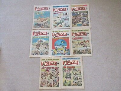 VICTOR COMICS X 8 from 1971 - Good/Fair condition/ WARLORD-Job Lot