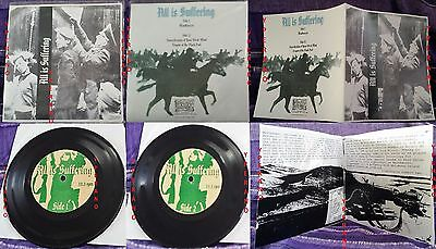 """ALL IS SUFFERING 7"""" Ultra Rare 100 copies! US Death Grind. Check audio. 33rpm"""
