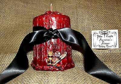 Love Spell Candle Passion's Flame Large Magick Wiccan Supplies Occult