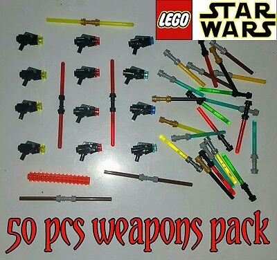 Lego Star Wars Weapons Pack For Lego Minifigures Guns Blasters Lightsabers Ammo