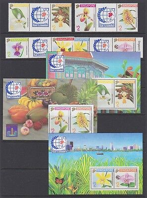SINGAPORE 1991 stamp exhibition 1995 MINT selection sets & sheets MNH