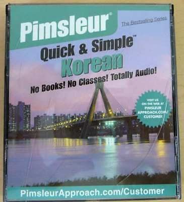 Pimsleur 'Quick and Simple' Korean  8 lessons on 4 CDs